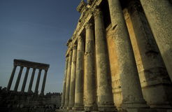 ASIA LEBANON BAALBEK. The temple city of Baalbek in the east of Lebanon in the middle east Stock Images