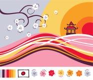 asia liggande vektor illustrationer