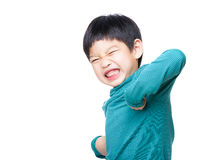 Asia little boy excited Stock Photos