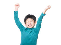 Asia little boy excited stock images