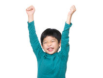 Asia little boy hand up Royalty Free Stock Images