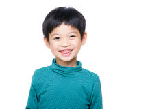 Asia little boy. Isolated on white Royalty Free Stock Photography
