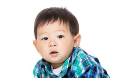Asia little boy portrait. Isolated on white Stock Photos