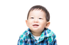 Asia little boy smile. Isolated on white Royalty Free Stock Images