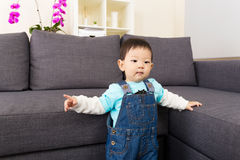 Asia little boy standing Royalty Free Stock Images