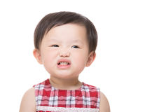 Asia little girl making funny face Royalty Free Stock Images
