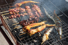 Asia local meat grill food Royalty Free Stock Photos