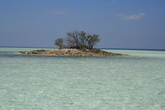 Asia. Maldive, birth of the little atoll Royalty Free Stock Image