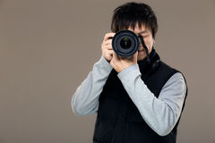 Asia male photographer Stock Photography