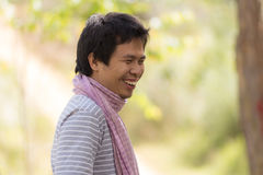 Asia man laugh Stock Photography