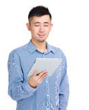 Asia man using tablet Stock Photography