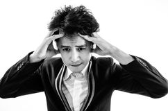 Asia man worry. royalty free stock images