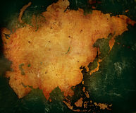 Asia map. Aged asia map-vintage artwork stock image
