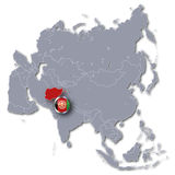 Asia map with Afghanistan Stock Photos