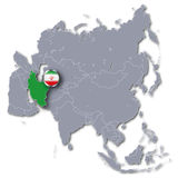 Asia map with Iran Royalty Free Stock Photography