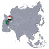 Asia map with Iraq Royalty Free Stock Photography