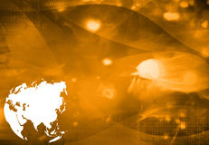 Asia map technology style artwork Stock Images