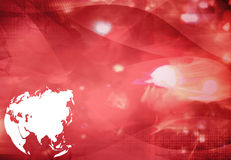 Asia map technology style artwork Royalty Free Stock Photography