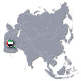 Asia map with the United Arab Emirates. And tourism royalty free stock image