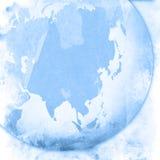 Asia map-vintage artwork vector illustration
