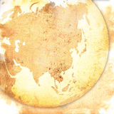 Asia map-vintage artwork Stock Photography