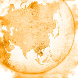 Asia map-vintage artwork Royalty Free Stock Image