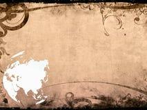 Asia map-vintage artwork Stock Photo