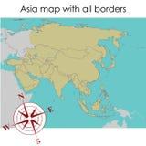 asia mapa Zdjęcie Royalty Free