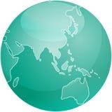 asia mapy sfera Zdjęcia Royalty Free