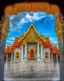 Asia,The Marble Temple ( Wat Benchamabophit ), Bangkok, Thailand Royalty Free Stock Photo