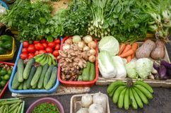 Asia market vegetables stock photography