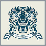 Asia mask five. In vintage  style Royalty Free Stock Photography
