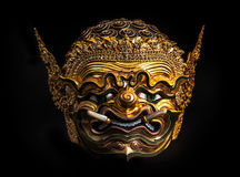 "Asia Mask, Khon Mask of Thailand. ""Pra pi rap"" (giant) Stock Photography"