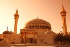 ASIA MIDDLE EAST JORDAN AMMAN. The  King Abdullah Mosque in the City Amman in Jordan in the middle east Royalty Free Stock Photos