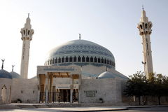 ASIA MIDDLE EAST JORDAN AMMAN. The  King Abdullah Mosque in the City Amman in Jordan in the middle east Stock Image