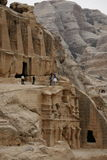 ASIA MIDDLE EAST JORDAN PETRA. The Bab as Siq street with the Obelisk Tomb and the Bab as Siq Triclinium in the Temple city of Petra in Jordan in the middle east Stock Photos
