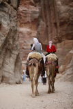 ASIA MIDDLE EAST JORDAN PETRA. The landscape and streets in the Temple city of Petra in Jordan in the middle east Stock Photos