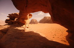 ASIA MIDDLE EAST JORDAN WADI RUM Royalty Free Stock Photography