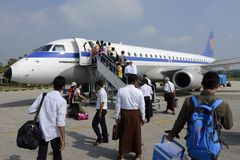 ASIA MYANMAR AIRPLANE MYANMA AIRWAYS Stock Photography