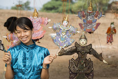 ASIA MYANMAR BAGAN PUPPET SHOW Royalty Free Stock Photos