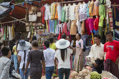 ASIA MYANMAR BAGAN SHOPS Stock Images