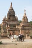 ASIA MYANMAR BAGAN TEMPLE PAGODA TRANSPORT Royalty Free Stock Image
