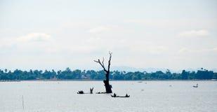 Asia, Myanmar Birmania: Puente de U Bein de Mandalay fotografía de archivo libre de regalías