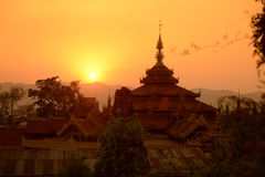 ASIA MYANMAR INLE LAKE NYAUNGSHWN CITY Royalty Free Stock Photos