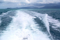 Asia myanmar kho samui bay isle froth foam   in thailand Royalty Free Stock Photography