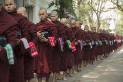 ASIA MYANMAR MANDALAY AMARAPURA MAHA GANAYON KYAUNG MONASTERY Stock Photography