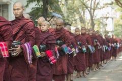 ASIA MYANMAR MANDALAY AMARAPURA MAHA GANAYON KYAUNG MONASTERY Royalty Free Stock Photo