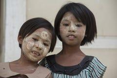 ASIA MYANMAR MANDALAY AMARAPURA THANAKA Stock Photography
