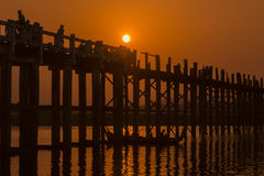 ASIA MYANMAR MANDALAY AMARAPURA U BEIN BRIDGE Royalty Free Stock Photo