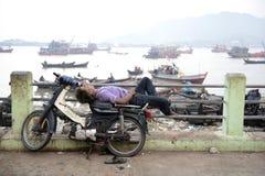 ASIA MYANMAR MYEIK CITY PEOPLE Stock Image
